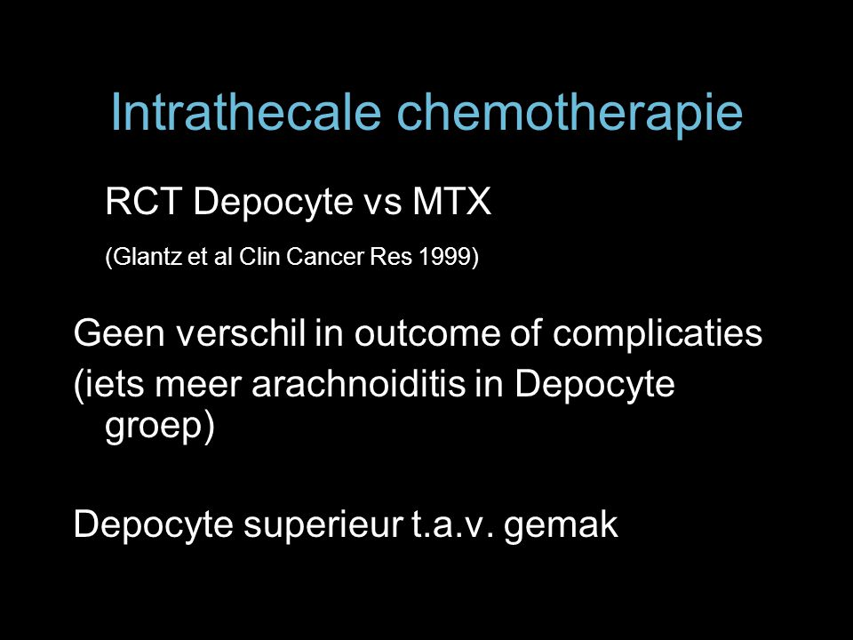 Intrathecale chemotherapie