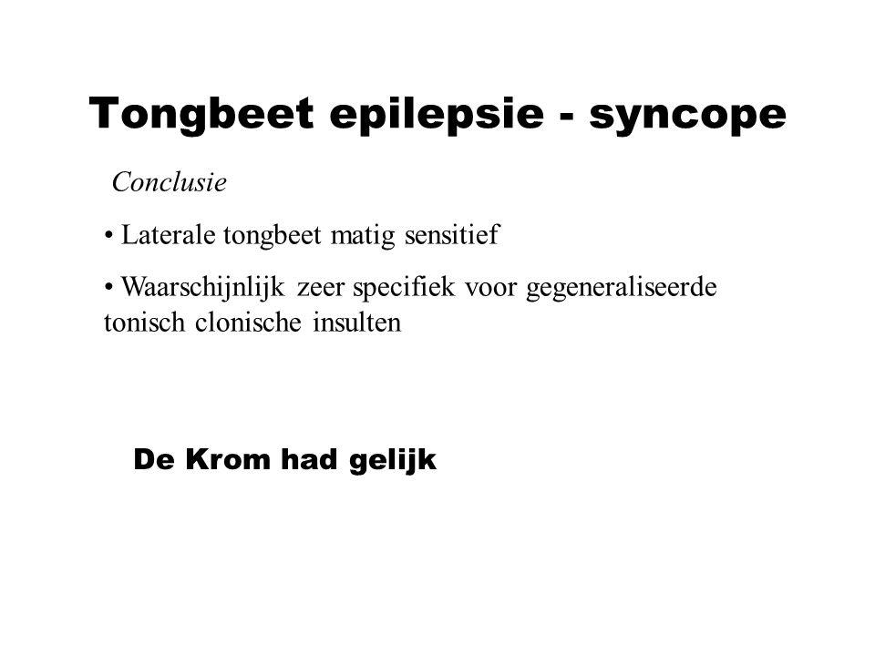 Tongbeet epilepsie - syncope