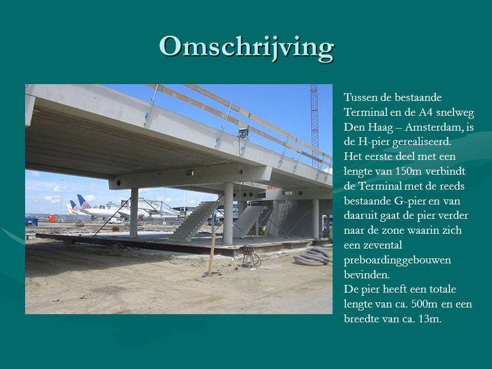 Omschrijving Tussen de bestaande Terminal en de A4 snelweg Den Haag – Amsterdam, is de H-pier gerealiseerd.