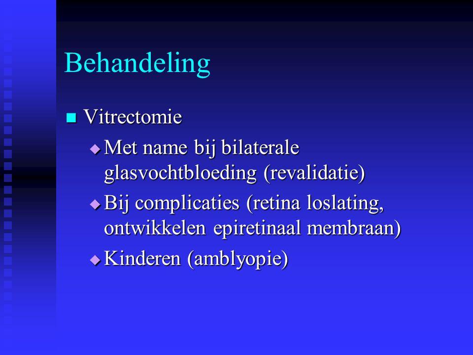 Behandeling Vitrectomie
