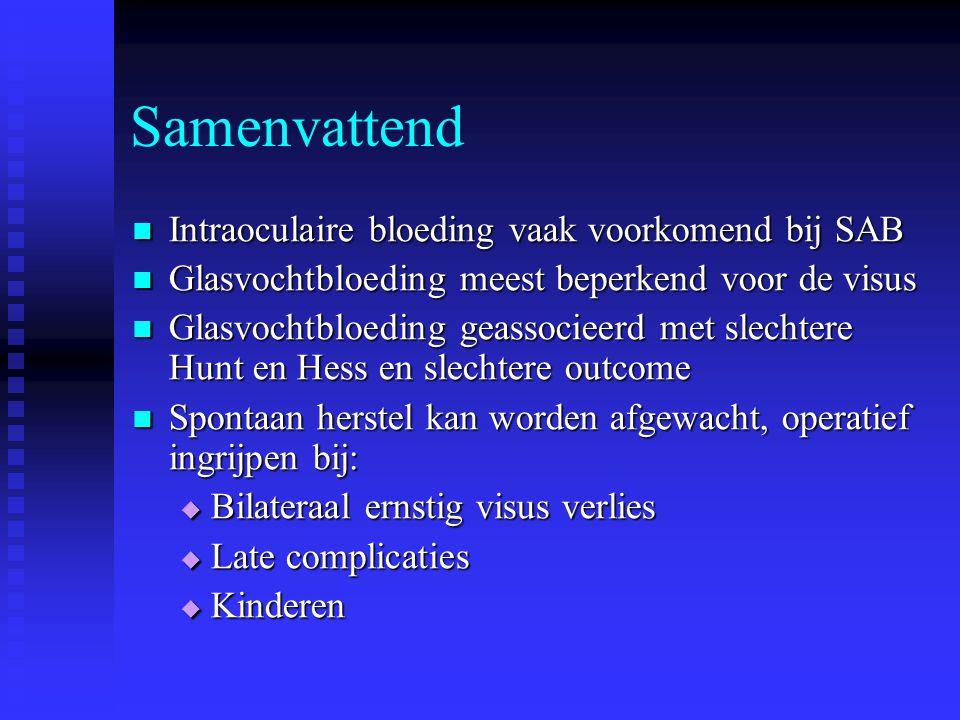 Samenvattend Intraoculaire bloeding vaak voorkomend bij SAB