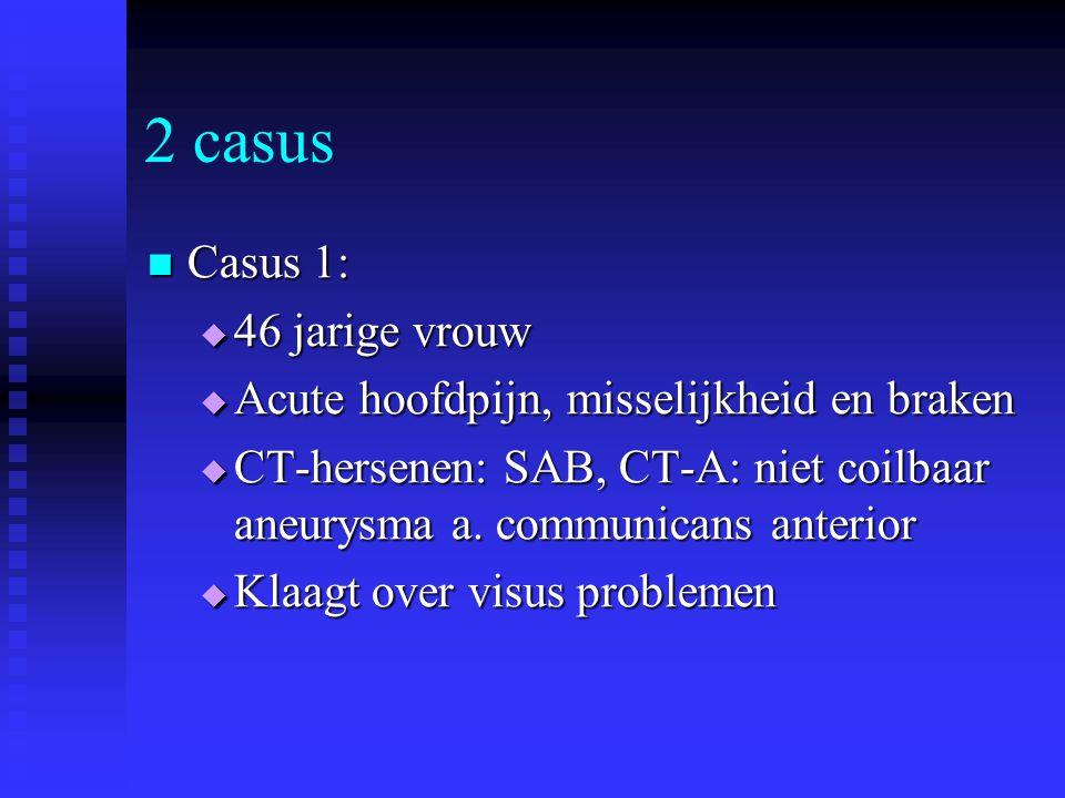 2 casus Casus 1: 46 jarige vrouw