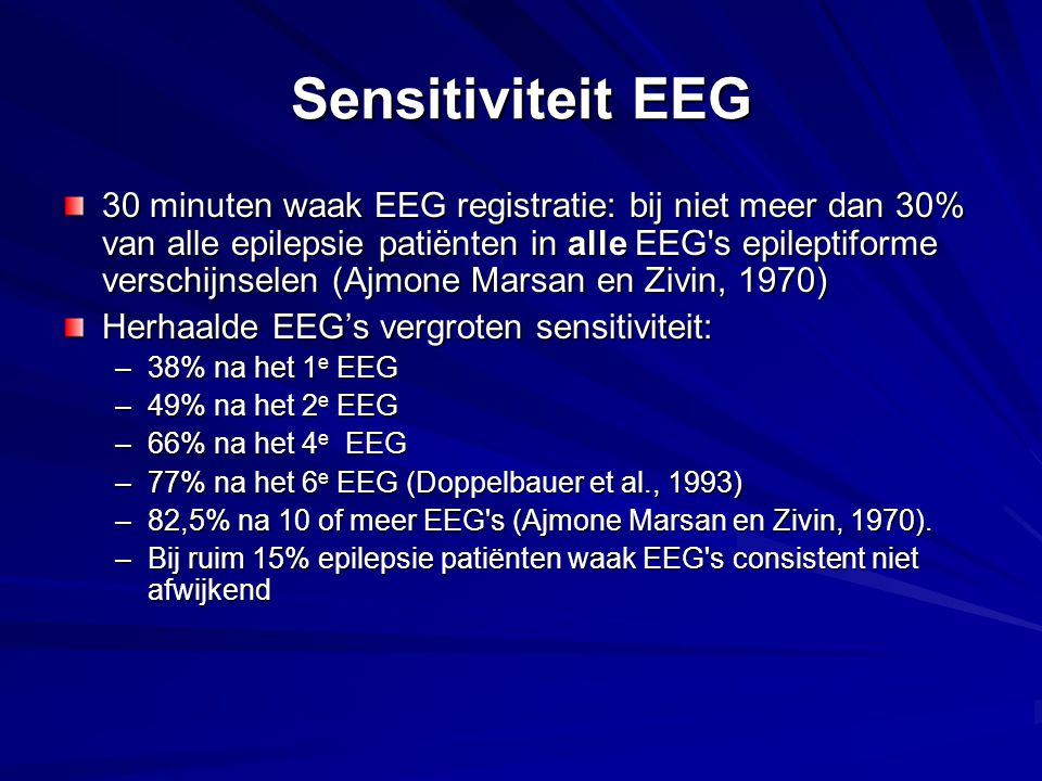 Sensitiviteit EEG