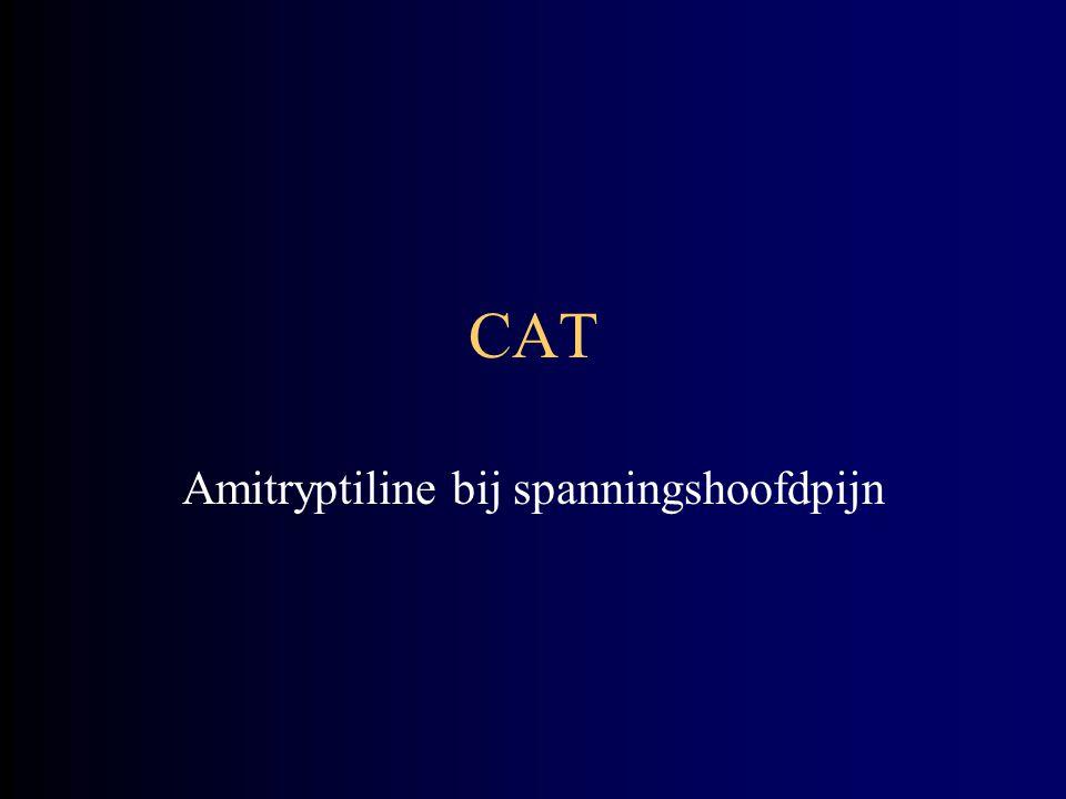 Amitryptiline bij spanningshoofdpijn