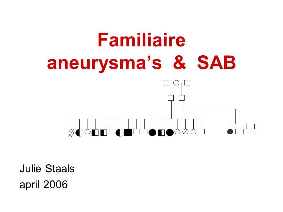 Familiaire aneurysma's & SAB