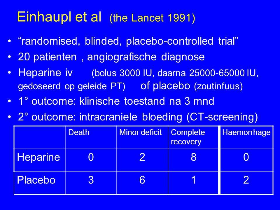 Einhaupl et al (the Lancet 1991)