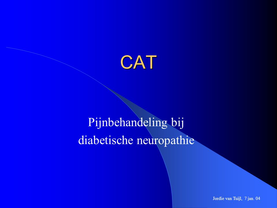 Pijnbehandeling bij diabetische neuropathie