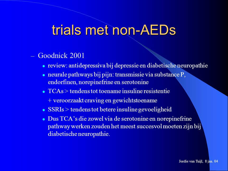 trials met non-AEDs Goodnick 2001