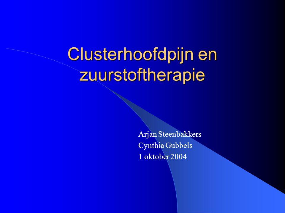Clusterhoofdpijn en zuurstoftherapie