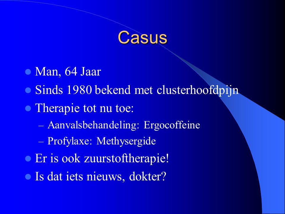 Casus Man, 64 Jaar Sinds 1980 bekend met clusterhoofdpijn