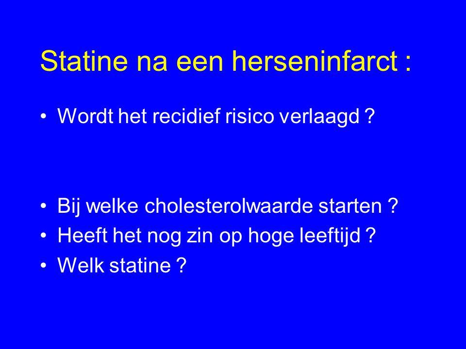 Statine na een herseninfarct :