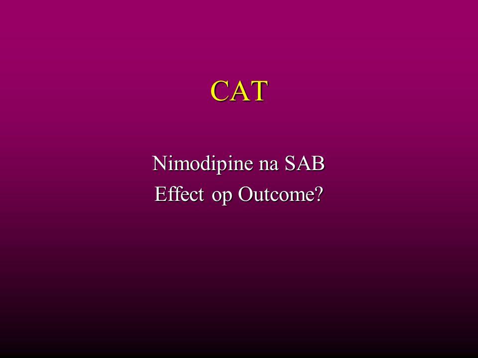 Nimodipine na SAB Effect op Outcome