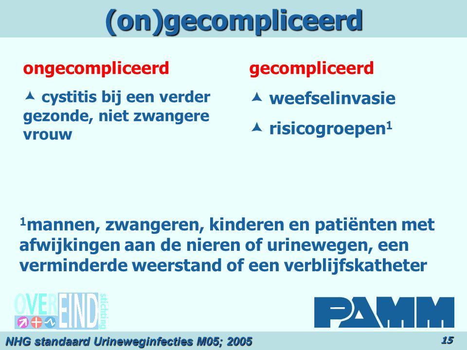 (on)gecompliceerd ongecompliceerd gecompliceerd  weefselinvasie