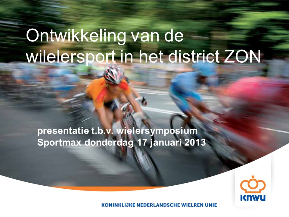 Ontwikkeling van de wilelersport in het district ZON