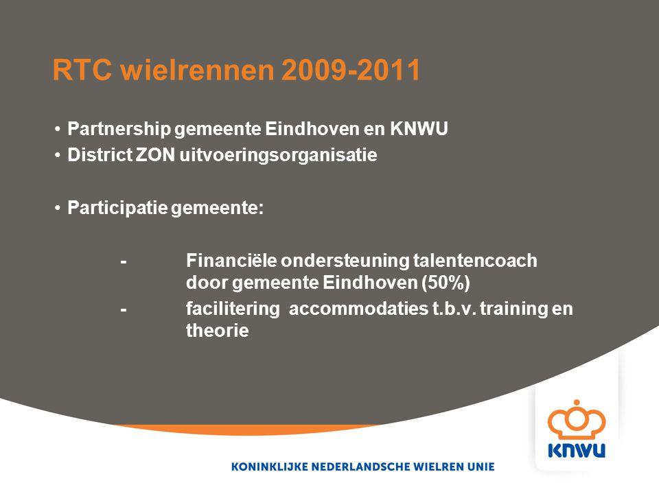 RTC wielrennen 2009-2011 Partnership gemeente Eindhoven en KNWU