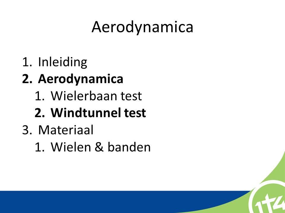 Aerodynamica Inleiding Aerodynamica Wielerbaan test Windtunnel test