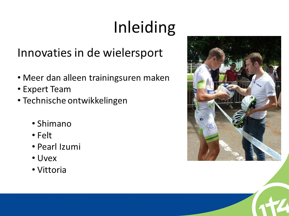 Inleiding Innovaties in de wielersport