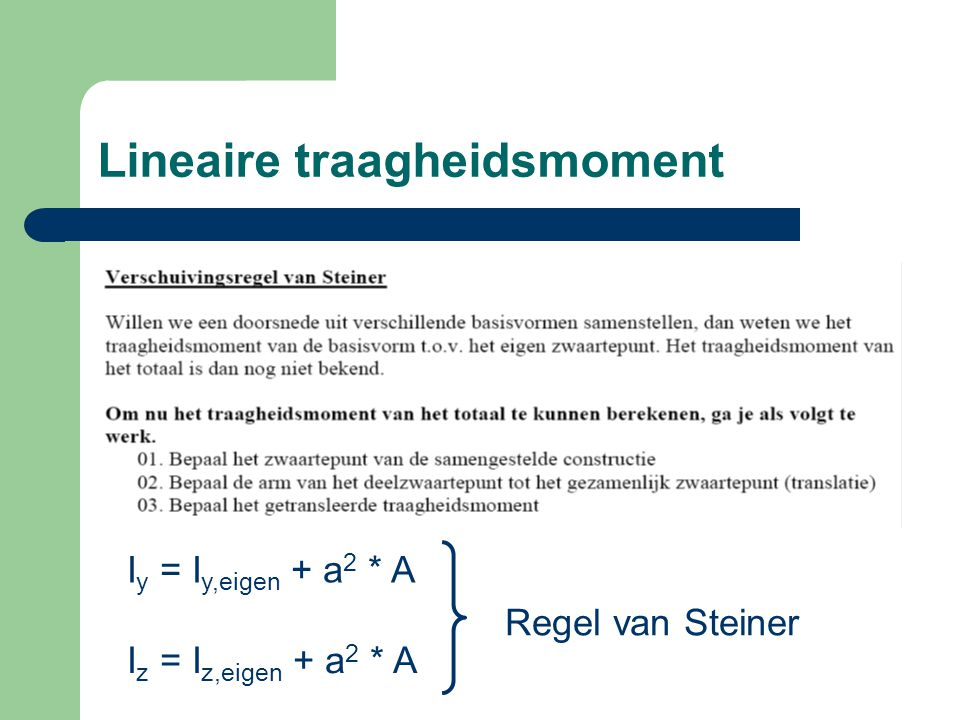 Lineaire traagheidsmoment