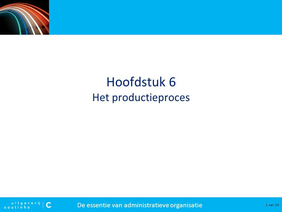 Hoofdstuk 6 Het productieproces