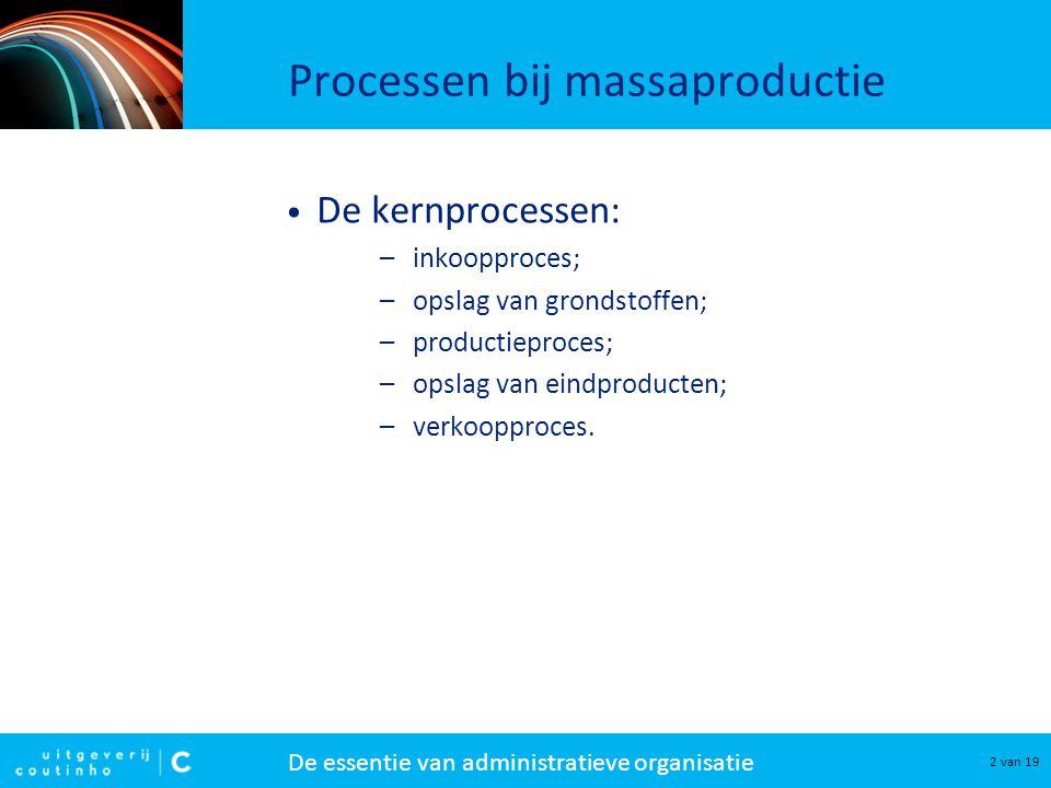 Processen bij massaproductie