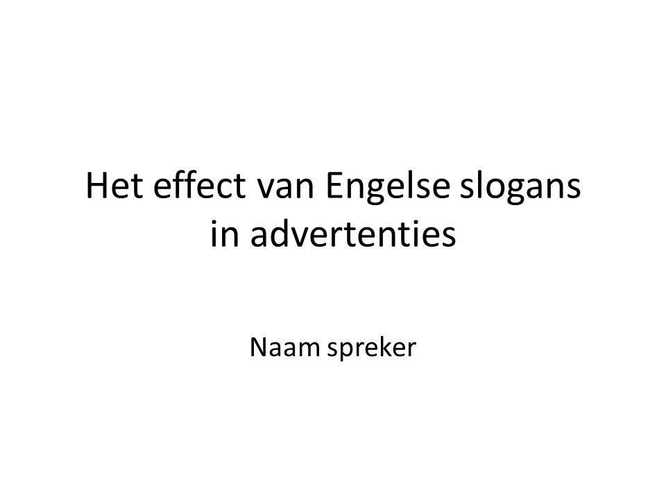 Het effect van Engelse slogans in advertenties