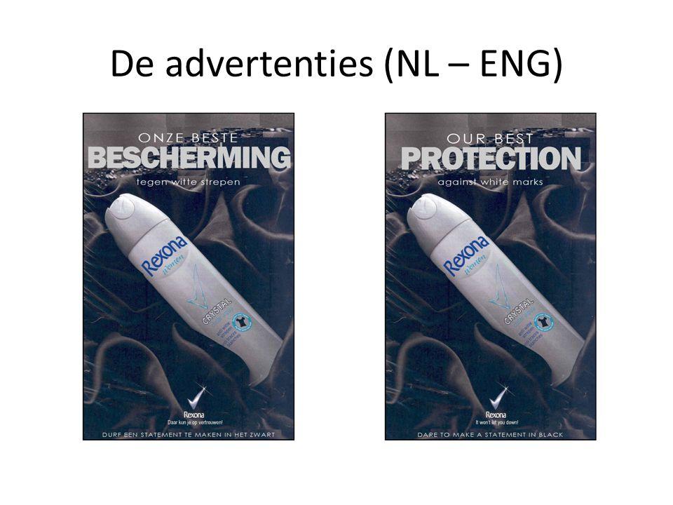 De advertenties (NL – ENG)