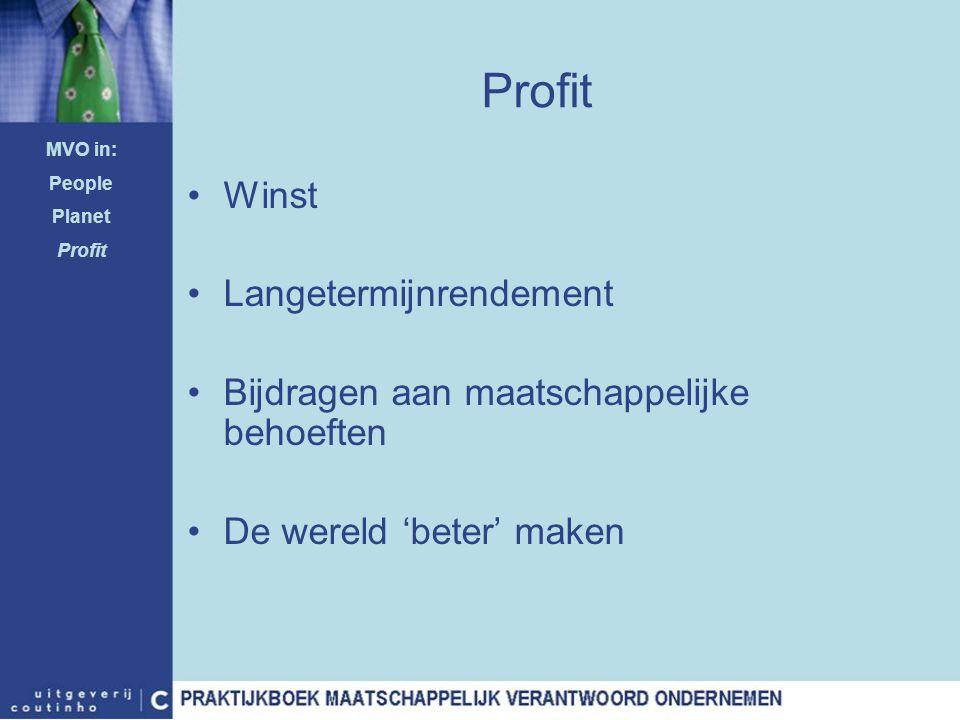 Profit Winst Langetermijnrendement