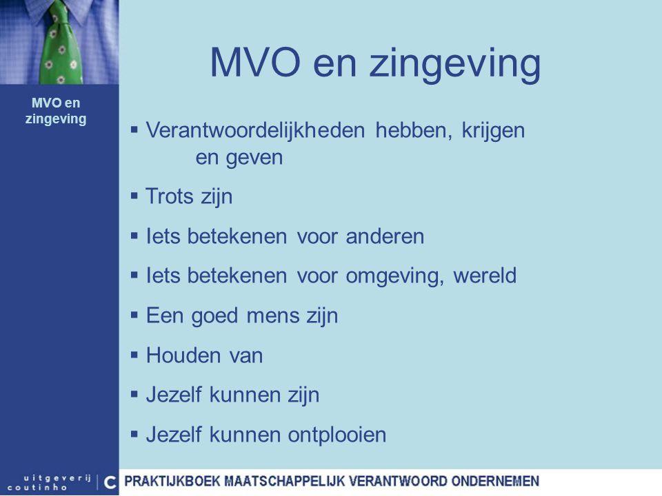 MVO en zingeving Verantwoordelijkheden hebben, krijgen en geven