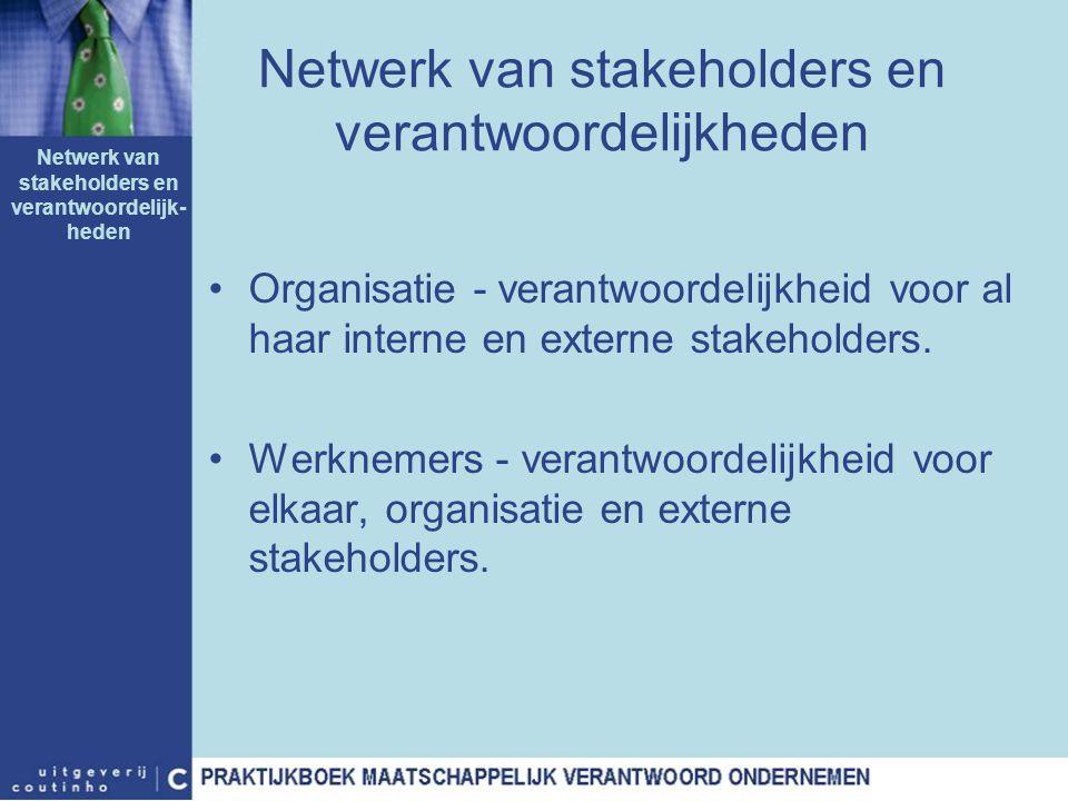 Netwerk van stakeholders en verantwoordelijkheden