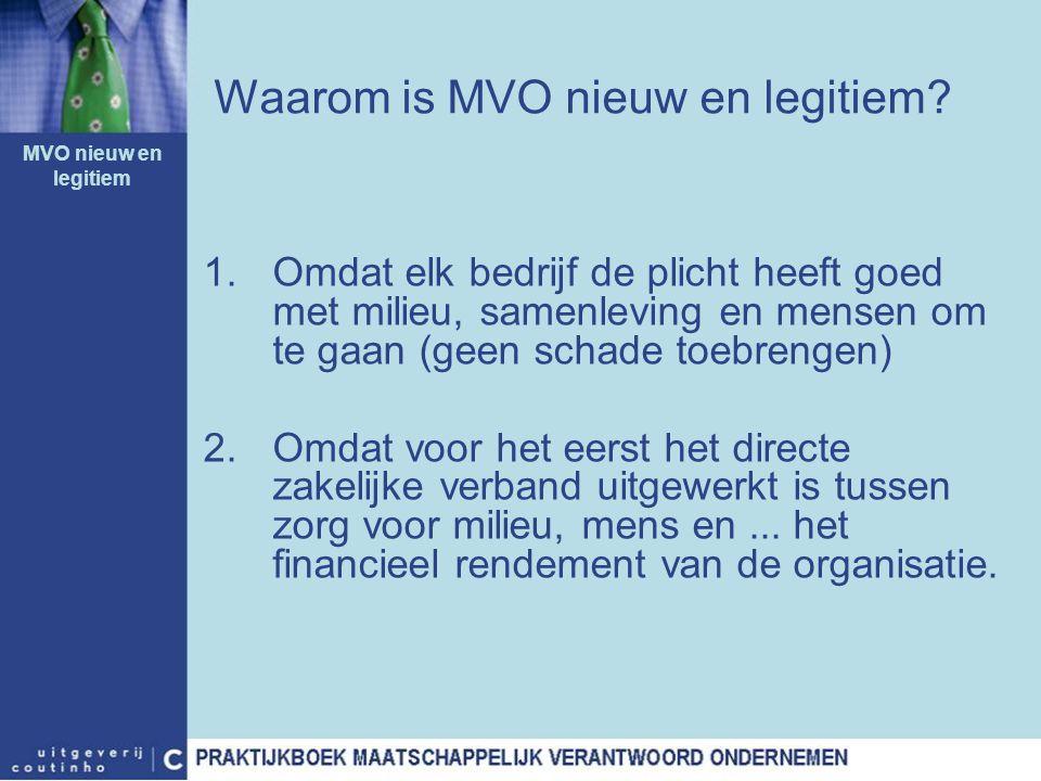 Waarom is MVO nieuw en legitiem
