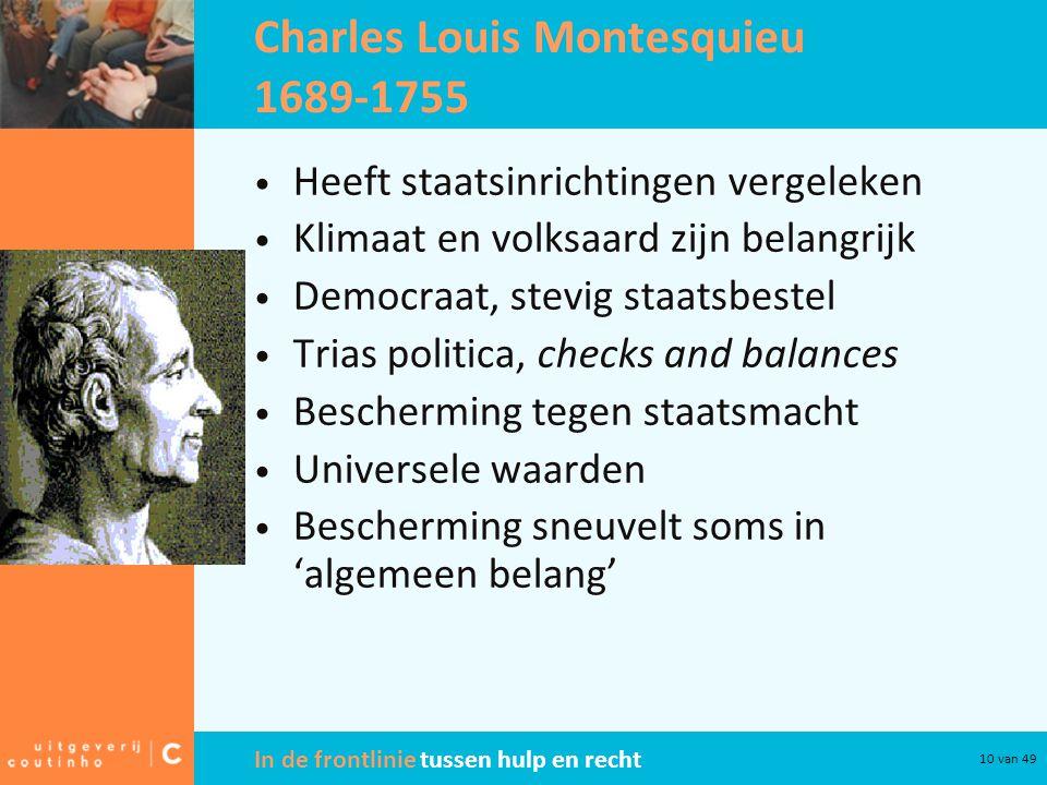 Charles Louis Montesquieu 1689-1755