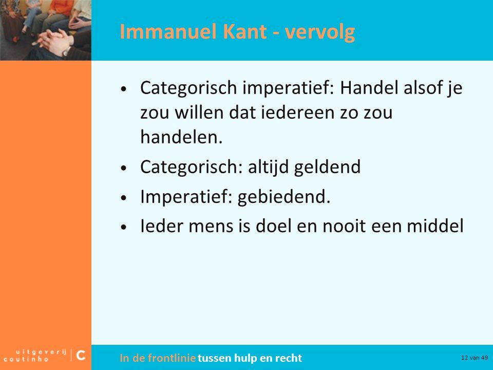 Immanuel Kant - vervolg