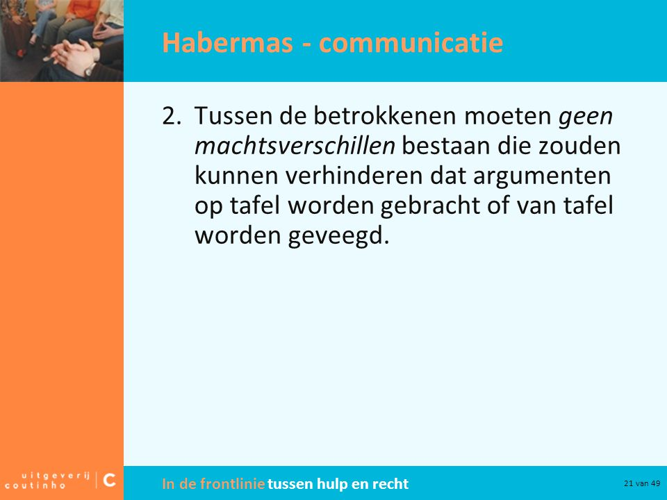Habermas - communicatie
