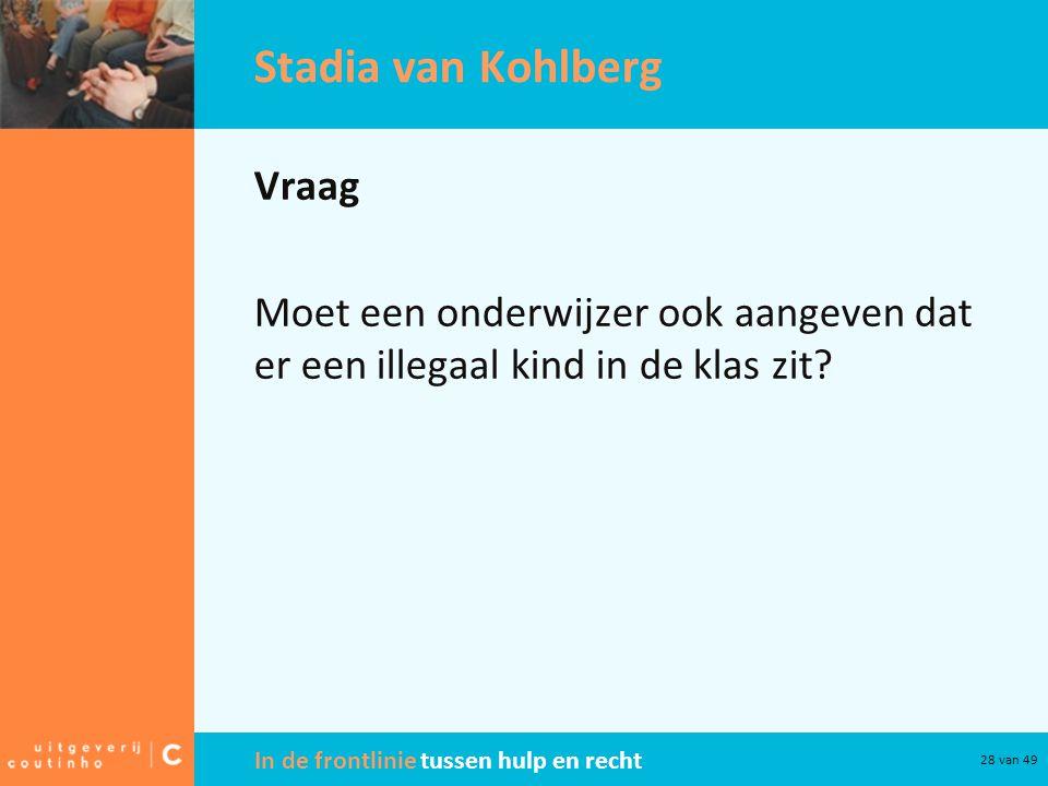 Stadia van Kohlberg Vraag