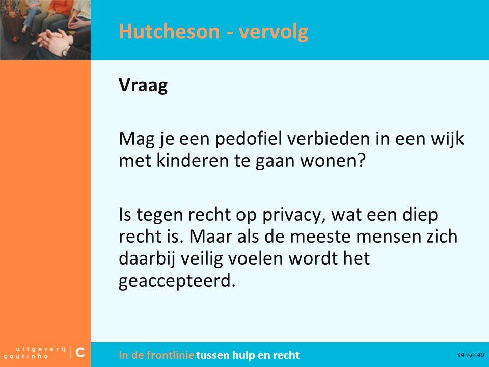 Hutcheson - vervolg