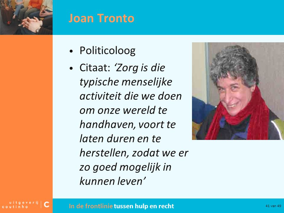 Joan Tronto Politicoloog