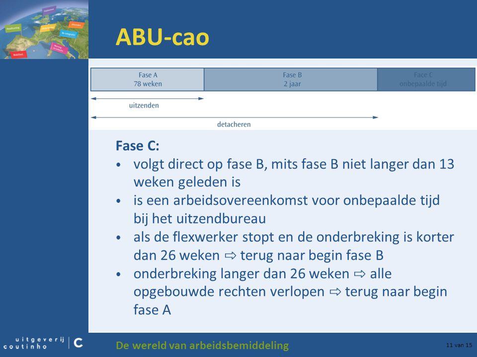 ABU-cao Fase C: volgt direct op fase B, mits fase B niet langer dan 13 weken geleden is.