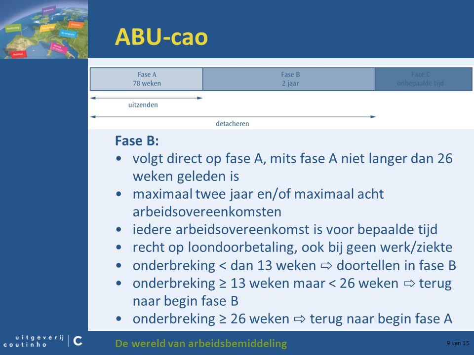 ABU-cao Fase B: volgt direct op fase A, mits fase A niet langer dan 26 weken geleden is.