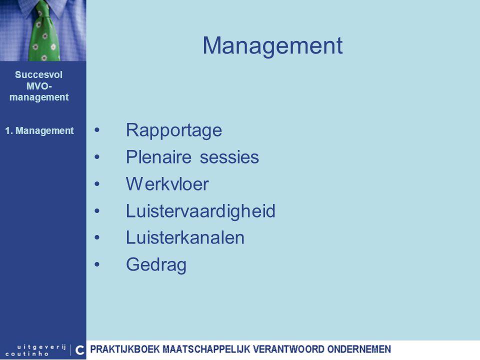Succesvol MVO-management