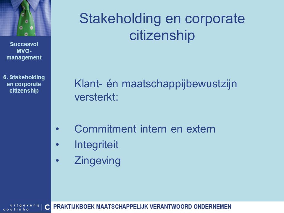 Stakeholding en corporate citizenship