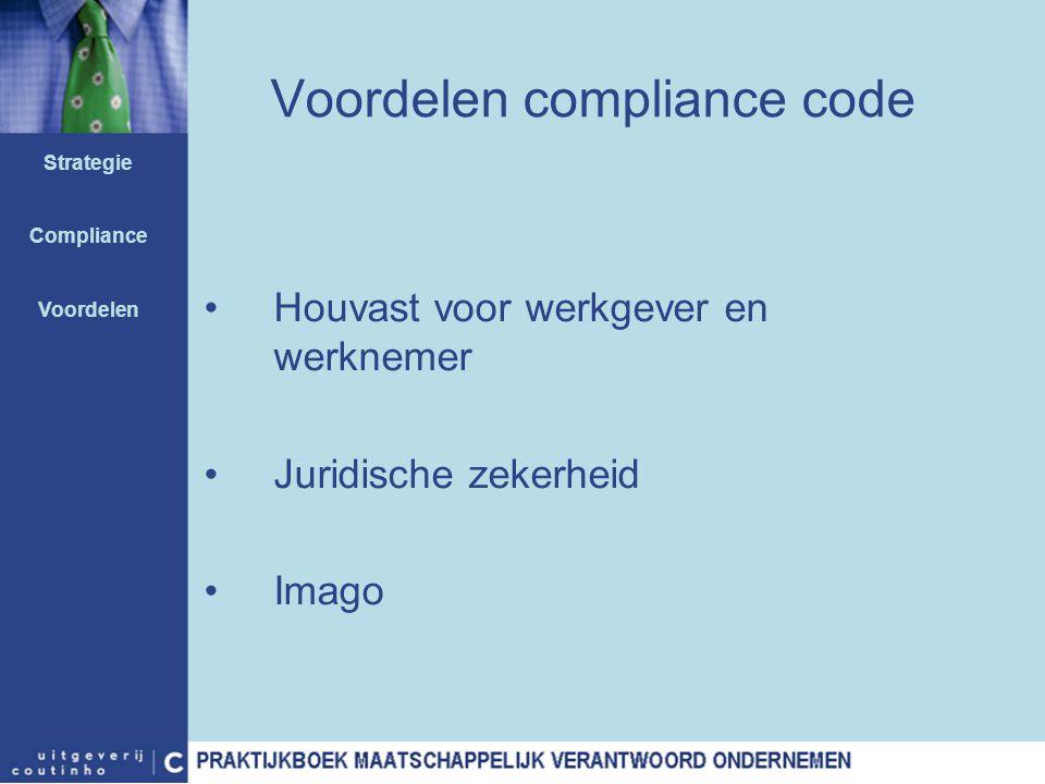 Voordelen compliance code