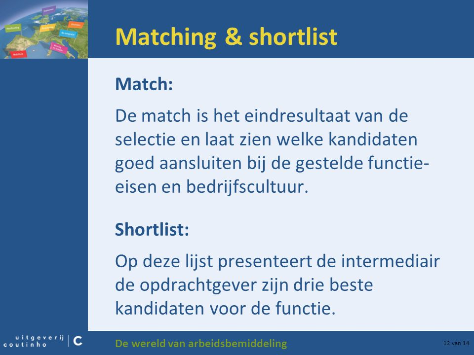 Matching & shortlist