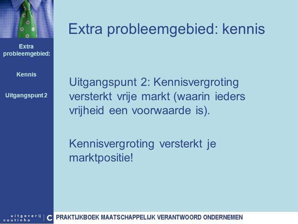 Extra probleemgebied: kennis