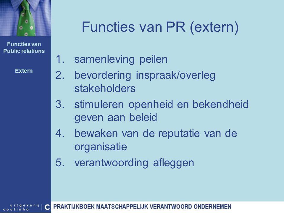 Functies van PR (extern)
