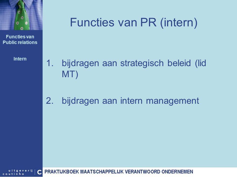 Functies van PR (intern)