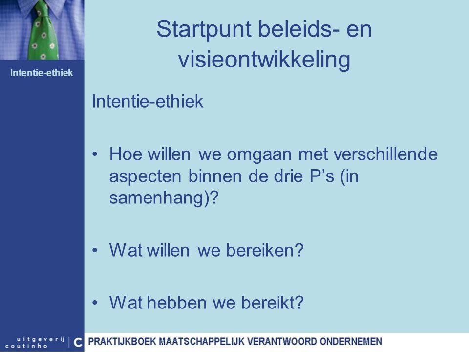 Startpunt beleids- en visieontwikkeling