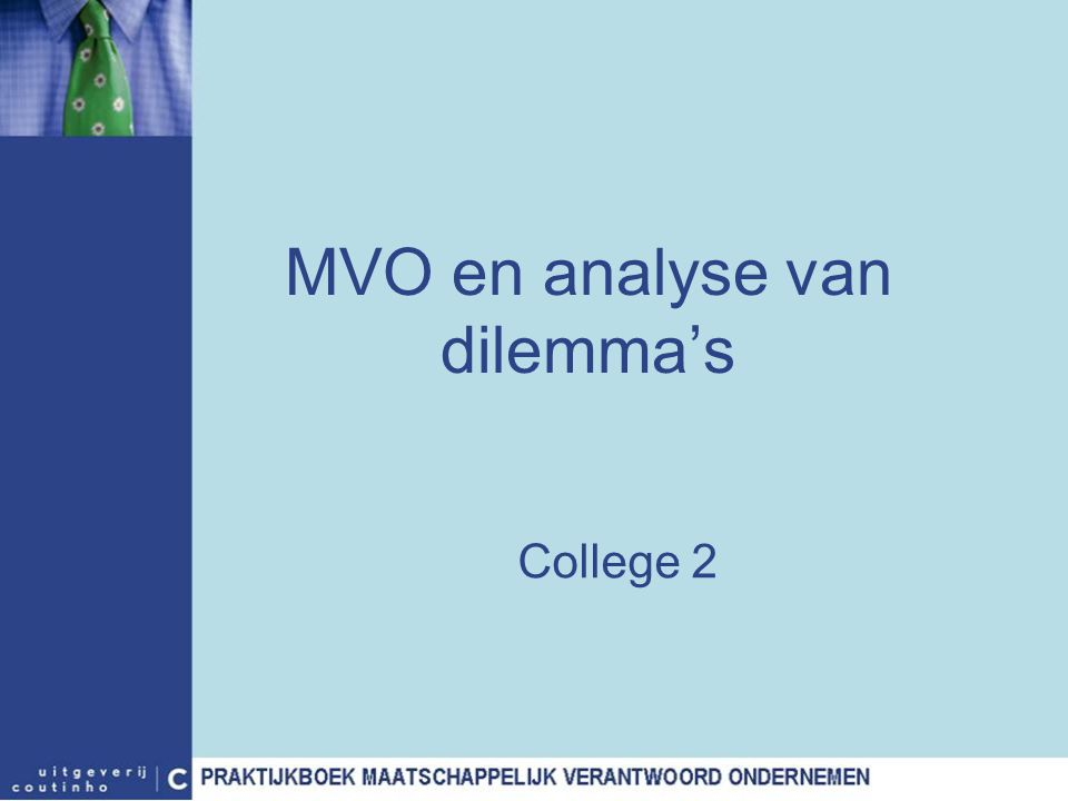 MVO en analyse van dilemma's
