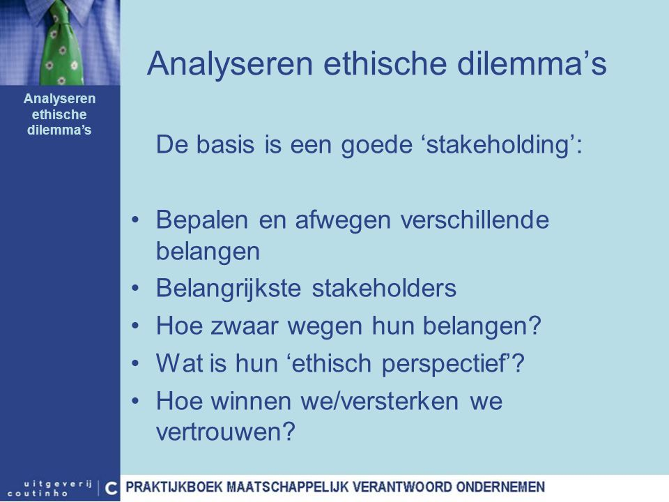 Analyseren ethische dilemma's