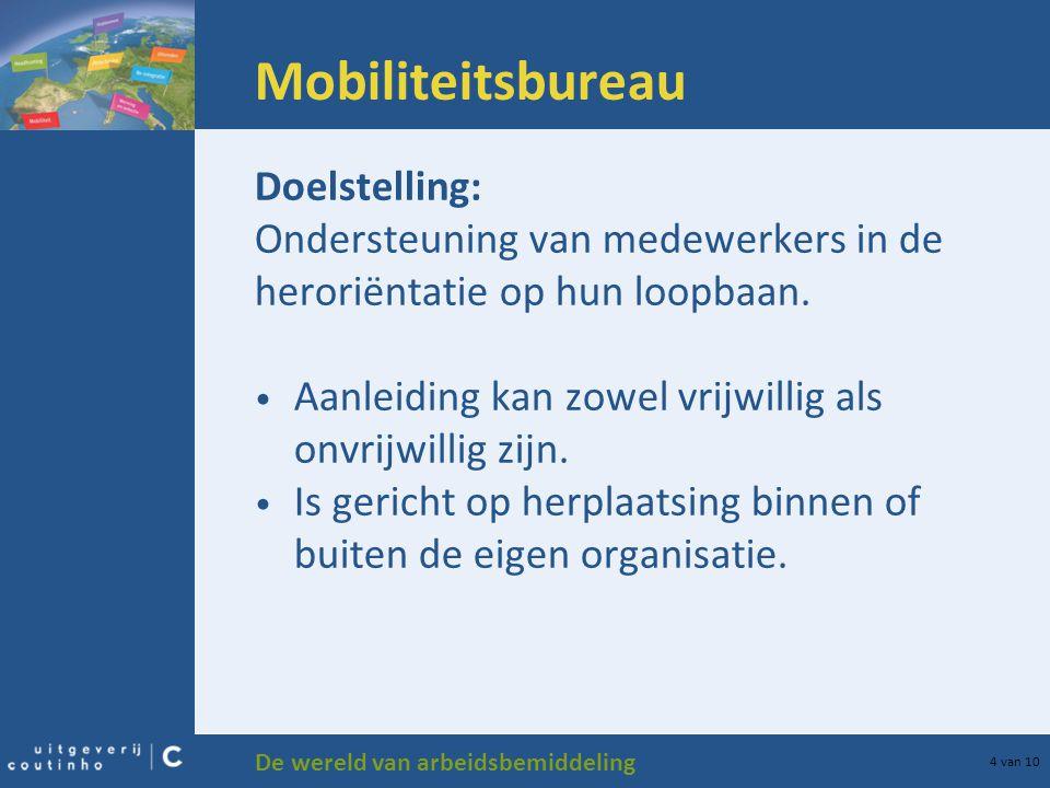 Mobiliteitsbureau Doelstelling: