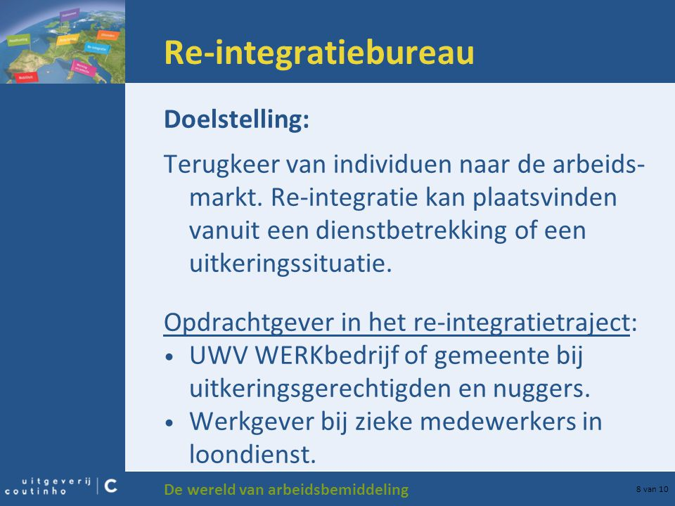 Re-integratiebureau Doelstelling: